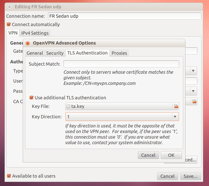 VPNBaron OpenVPN Linux